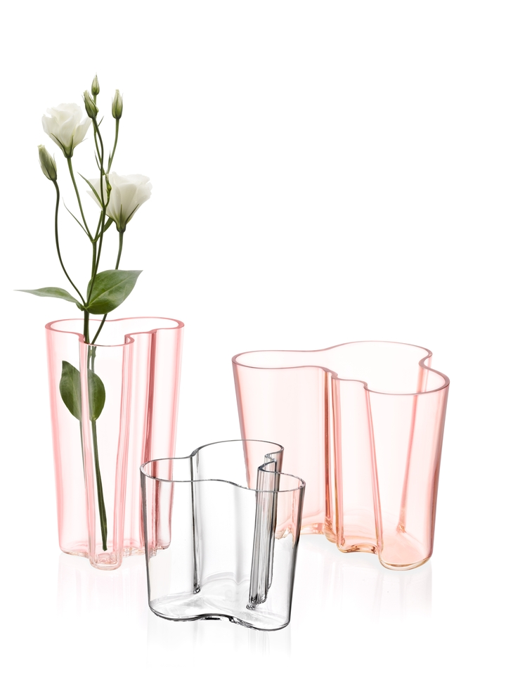 Aalto salmon pink clear group