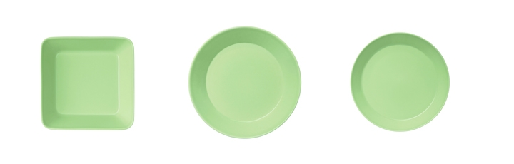 Teema plate celadon green group