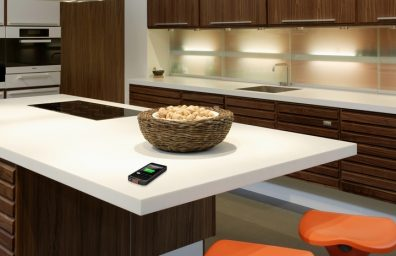 DuPont Corian countertop ricarica wireless iPhone5 02