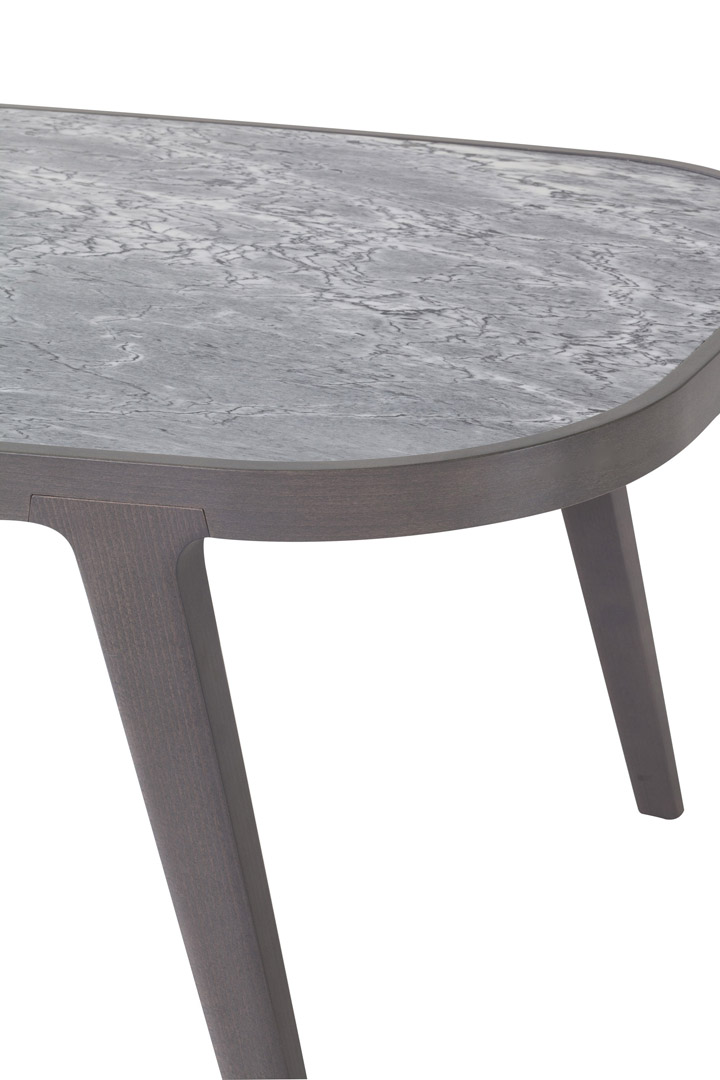 Lotus marble top table dett