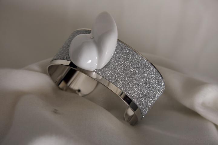 Bracciale n 1 a fascia e marmo Bracelet band and marble design by Emanuele Rubini 1