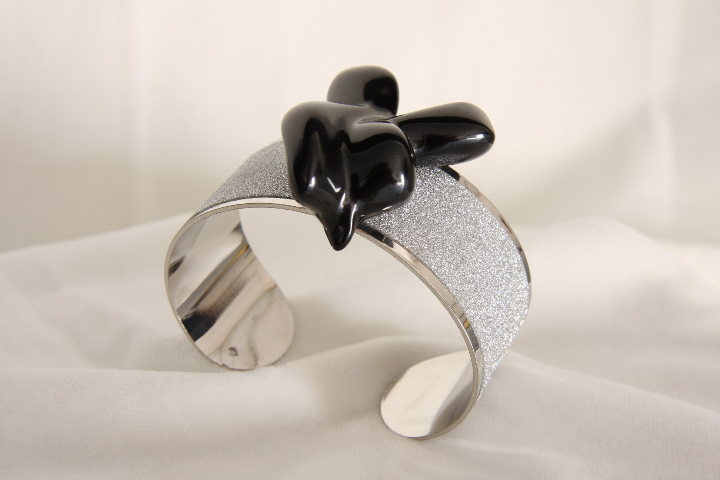 Bracelet No. 2 band and Marble Bracelet band and marble design by Emanuele Rubini