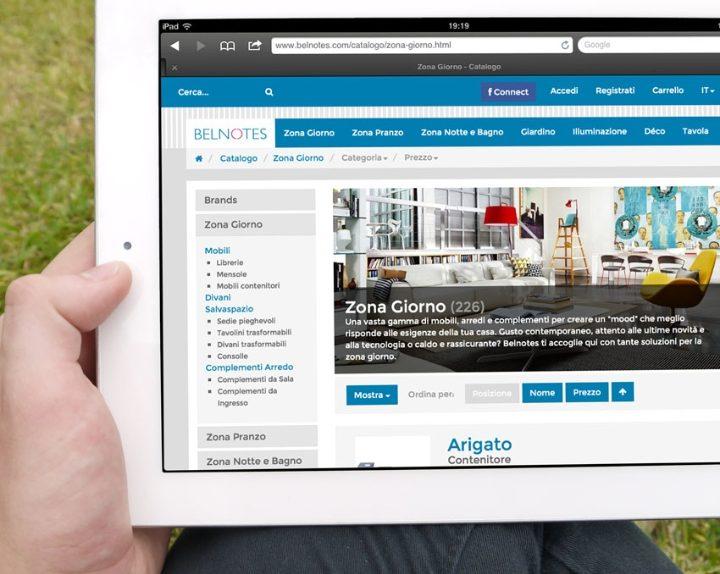 nuova immagine per il portale di vendite online di arredamento e design belnotes.com  Social ...