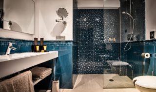 Hansgrohe per il Grand Hotel MaMa Suite Deluxe Romantic la sala da bagno