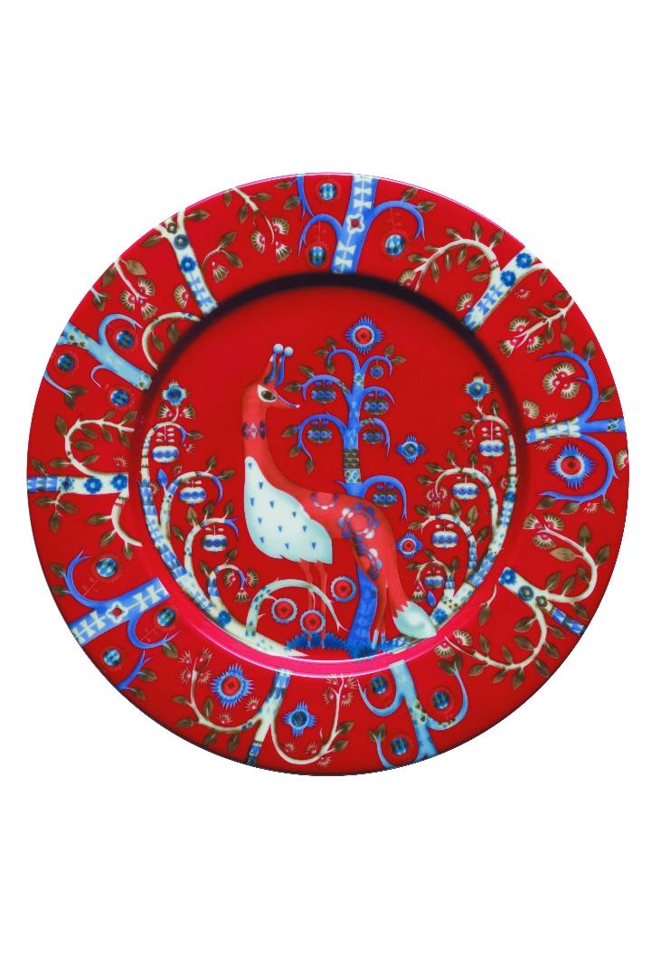 Taika plate 22cm red JPG