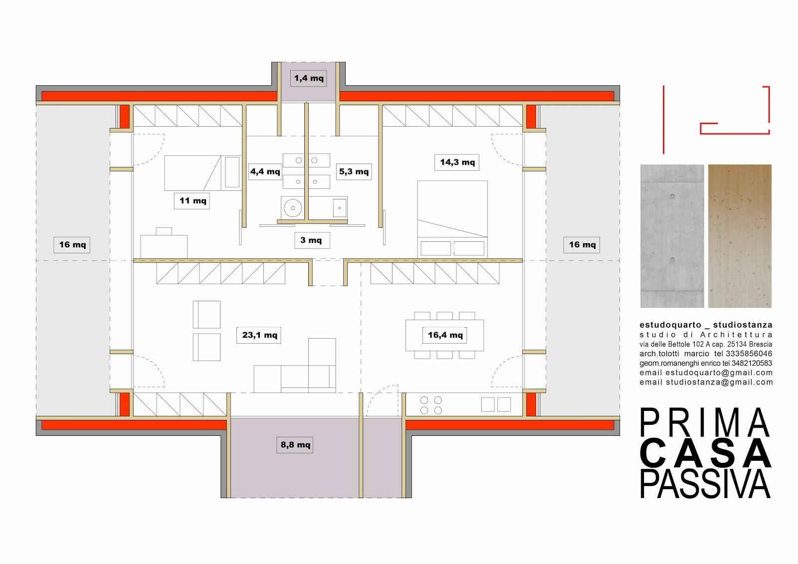 Estudoquarto Studiostanza Progetta Prima Casa Passiva
