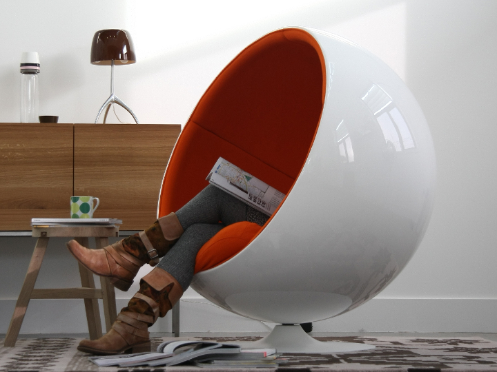 poltrona sfera Eero Aarnio, ball chair 02