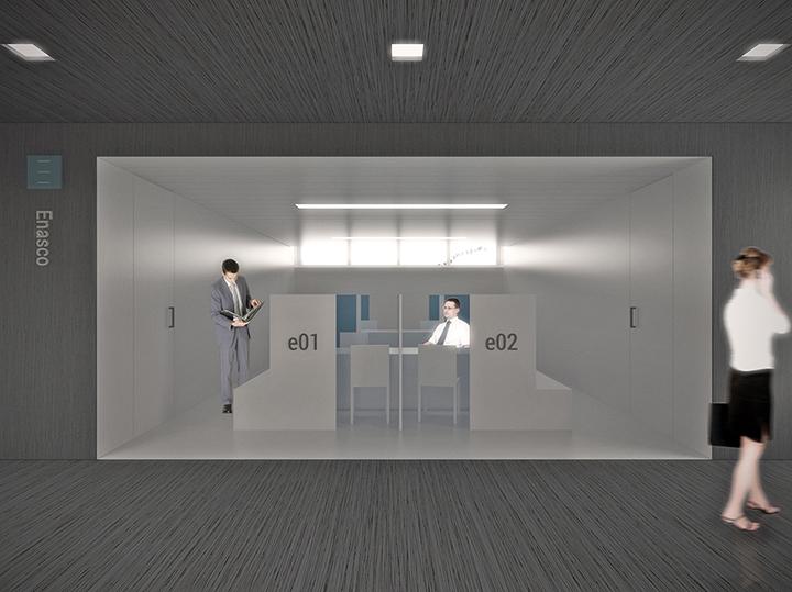 área vista Enasco aberto espaço-404design