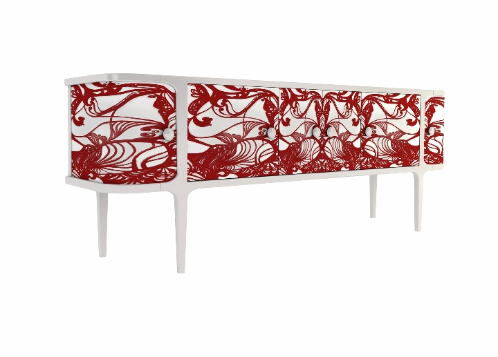 PATINA   by Codital - LE CADRE CABINET LCC102 CA24WT LIBERTY01 ROSSO