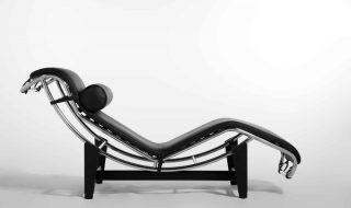 The armchair Le Corbusier Chaise Longue Pierre Janneret Charlotte Perriand
