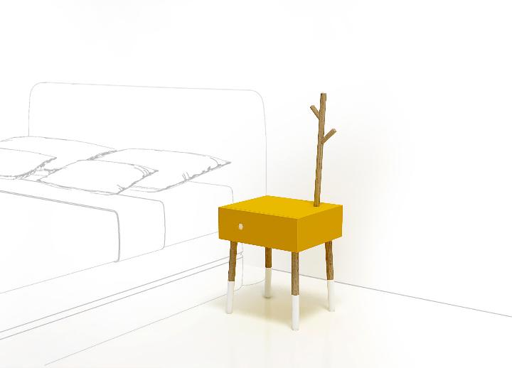 Twig-bedside table