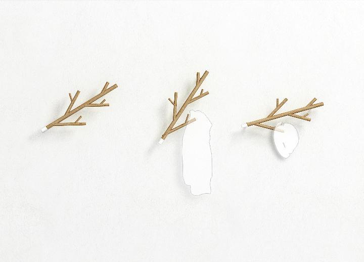 Twig-wall hanger
