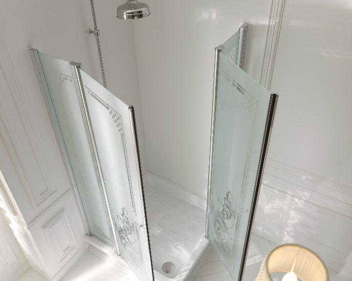 Bagno retr con doccia si pu con kerasan social for Layout bagno padronale con cabina doccia