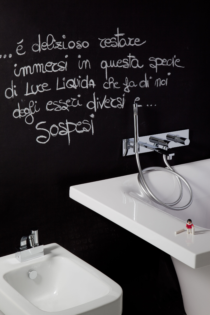 Bonomi - ELLE - moconomando mixer for wall wash basin ph.Clerici A 6