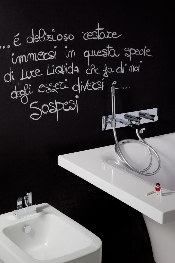 Bonomi - ELLE - MIscelatore moconomando per lavabo a parete ph.Clerici A 6