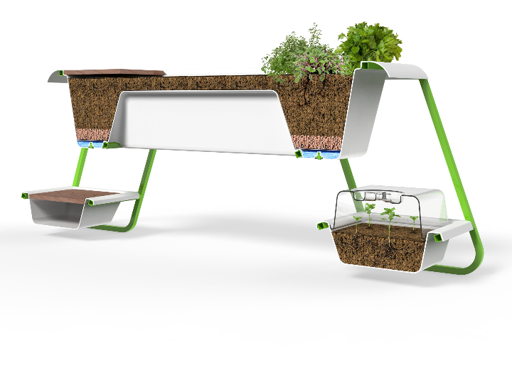 Z-Farm by Isoplastic Victory Garden Table 3
