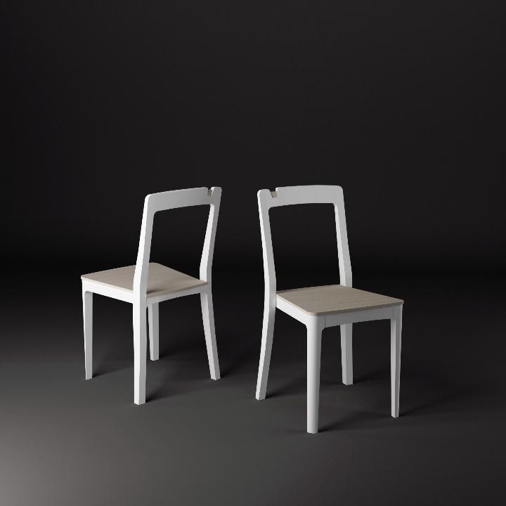 椅子新生活ジョージ白漆塗りのsfscuro