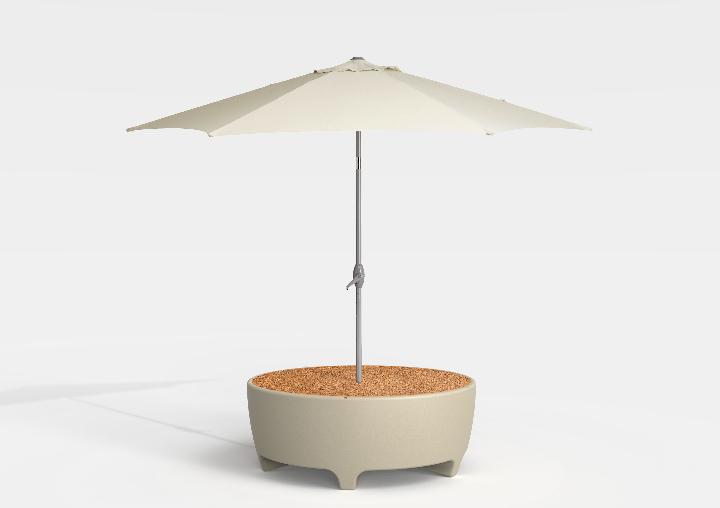 Oasis Cork Umbrella Serralunga Sebastian Bergne 1