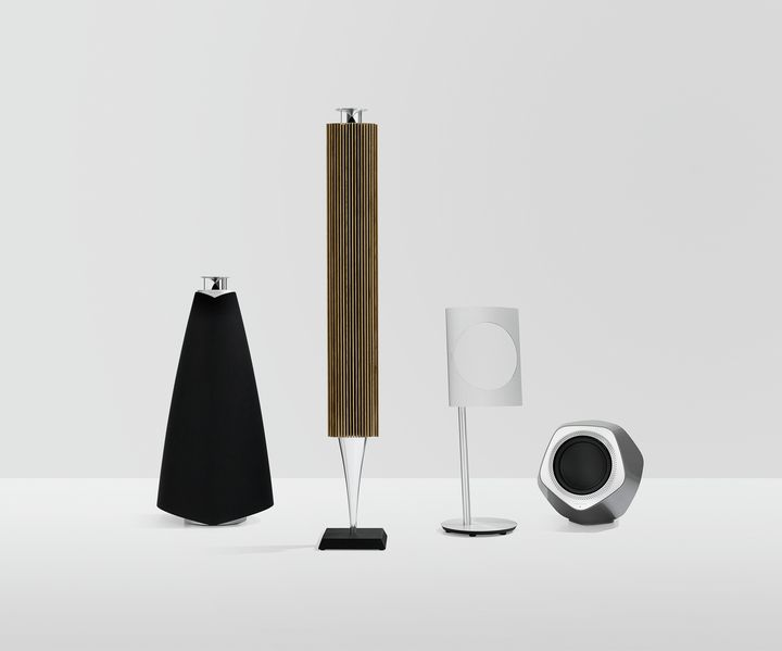 Bang & Olufsen BeoLab 20-008 projeto revista da empresa coluna sem fios