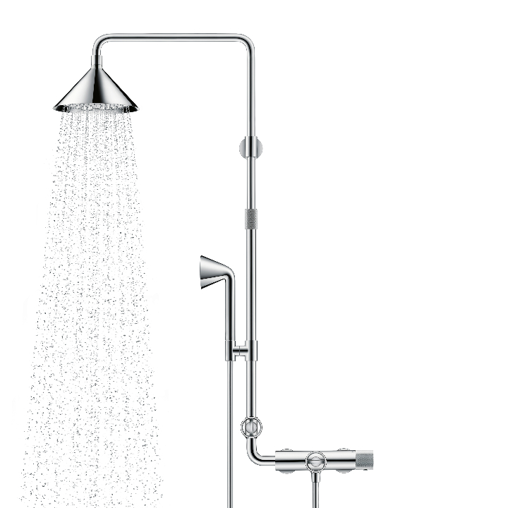 ShowerProducts Axor por chuveiro cromado Sistema Frontal