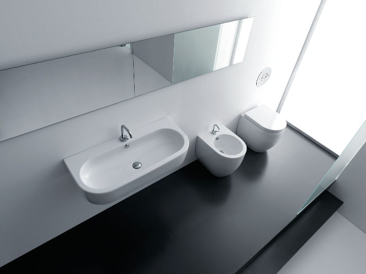Kerasan - Line Flo - 90 Vessel Sink and Bidet compact