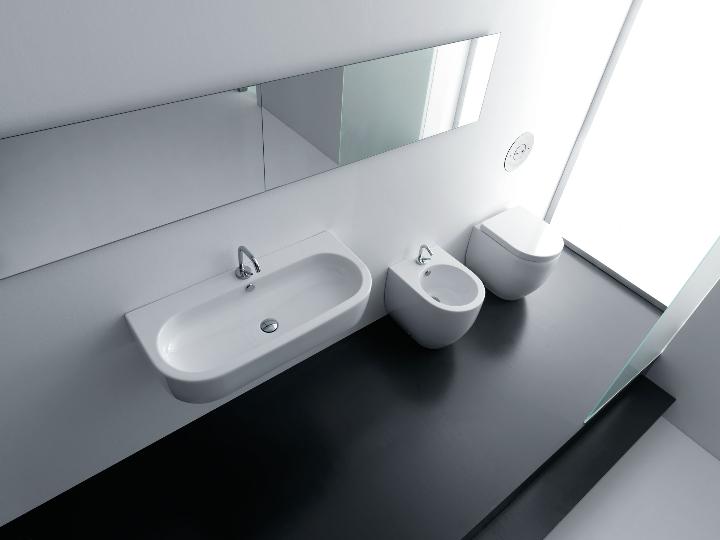 Kerasan - Linea Flo - Lavabo 90  Vaso e Bidet compact