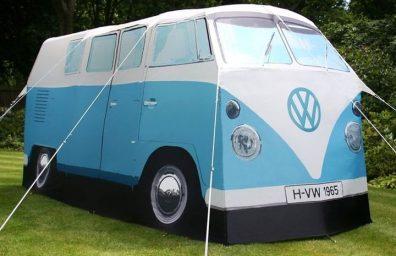 フォルクスワーゲン・キャンピングカー・バン-ある-本当に--テント1