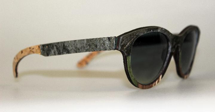Gafas de sol Catuma en madera y ropa de piedra 1