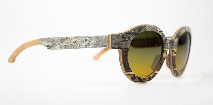 Gafas de sol Catuma en madera y ropa de piedra 3