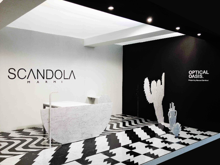 1STAND CERSAIE SCANDOLAMARMI OPTICAL OASIS Sozial Design-Magazin