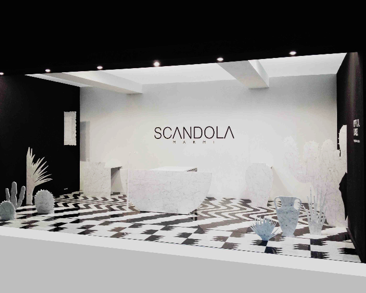 2STAND CERSAIE SCANDOLAMARMI OASIS OPTIQUE magazine design social
