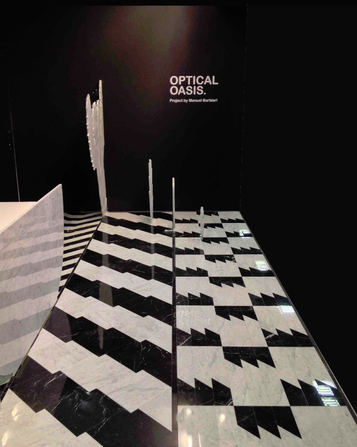 3STAND CERSAIE SCANDOLAMARMI OPTICAL OASIS social design magazine