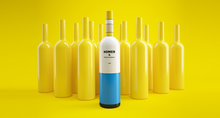 Simpsons Mondrian Wine Packaging Social Design Magazine 01