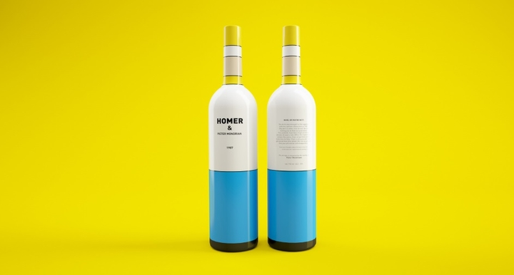 Simpsons Mondrian Wine Packaging Social Design Magazine 02