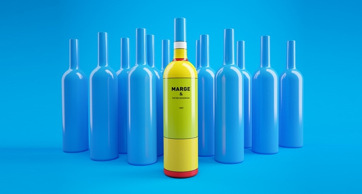 Simpsons Mondrian Wine Packaging Social Design Magazine 04