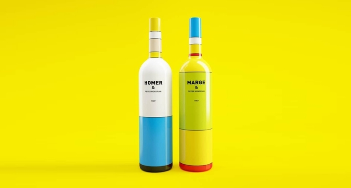 Simpsons Mondrian Wine Packaging Social Design Magazine 05