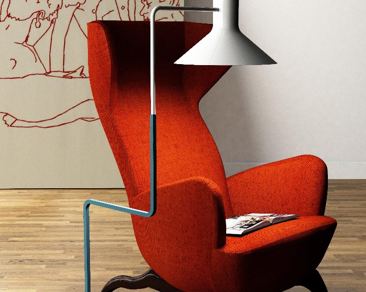 ZAVA Floor Lamp irmã por Enrico Azzimonti