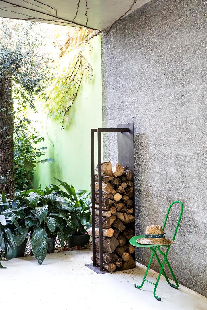 Eracle e cuori i porta legna proposti da il giardino di for Porta legna da esterno
