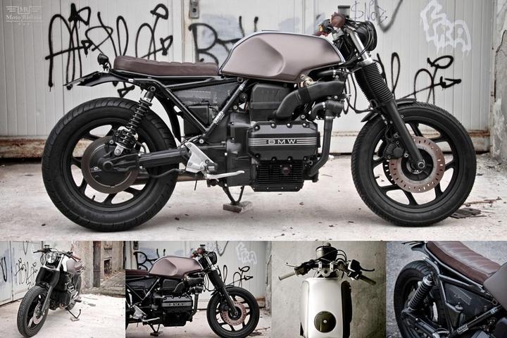 Custom BMW K 75 tracker lari pa moto Sumisura magazin konsepsyon sosyal