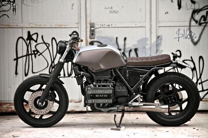 Custom BMW K 75 tracker lari pa moto Sumisura konsepsyon sosyal magazin 05