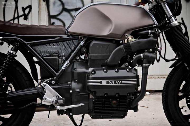 Benutzerdefinierte BMW K 75 Straße Tracker von Moto Sumisura Sozialdesignmagazin 08