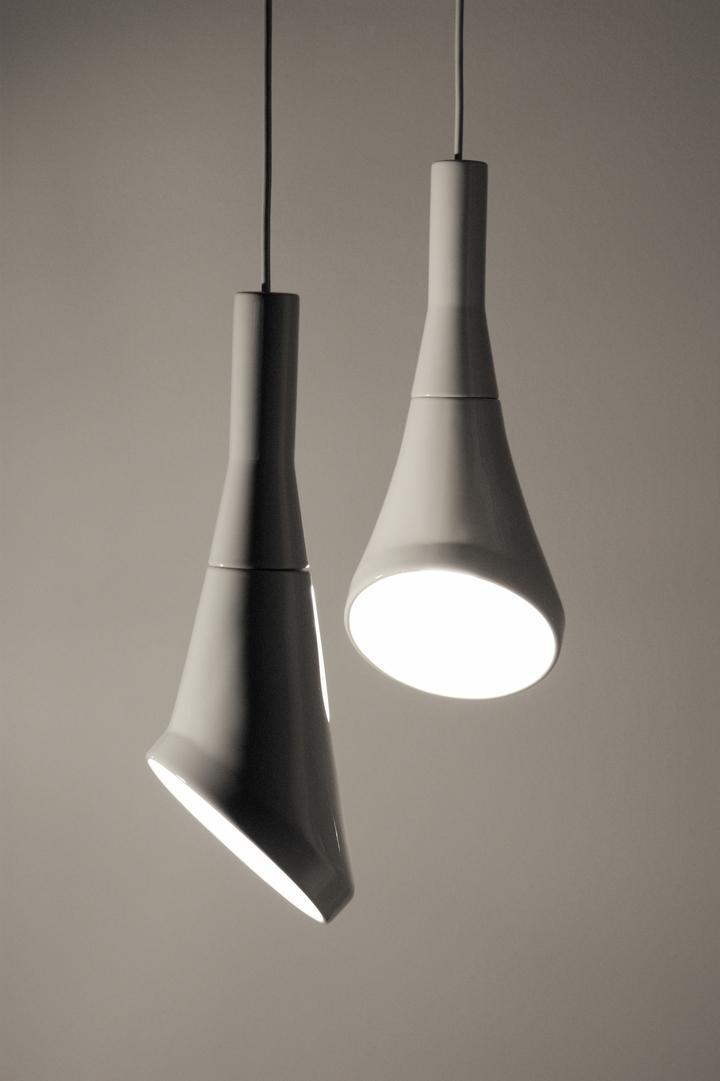 Blanc pendentif bruit lampe en RODRIGO Vairinhos design social magazine 54