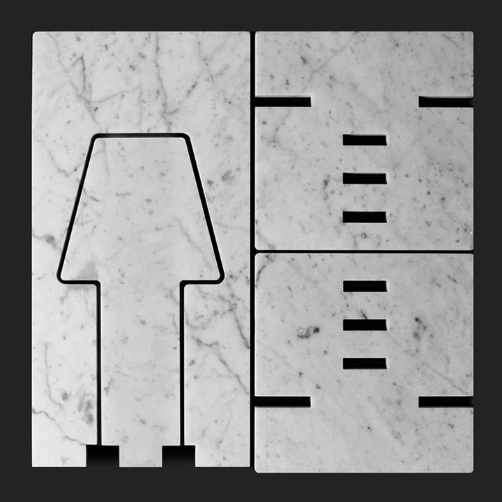 7 idee per 7 oggetti ricavabili da una piastrella di marmo for Piastrelle 40x40 da interno