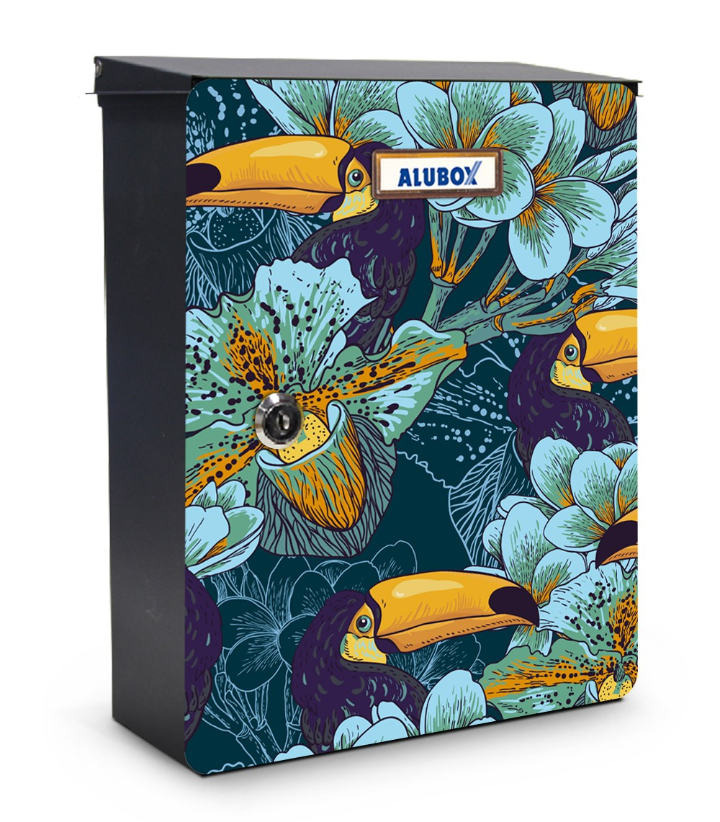 Toucans mailbox design miabox by my