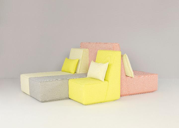 組み合わせ-4ピース·座席·家具