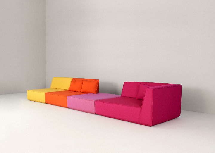 Lang Sofa-kreativ-Layout