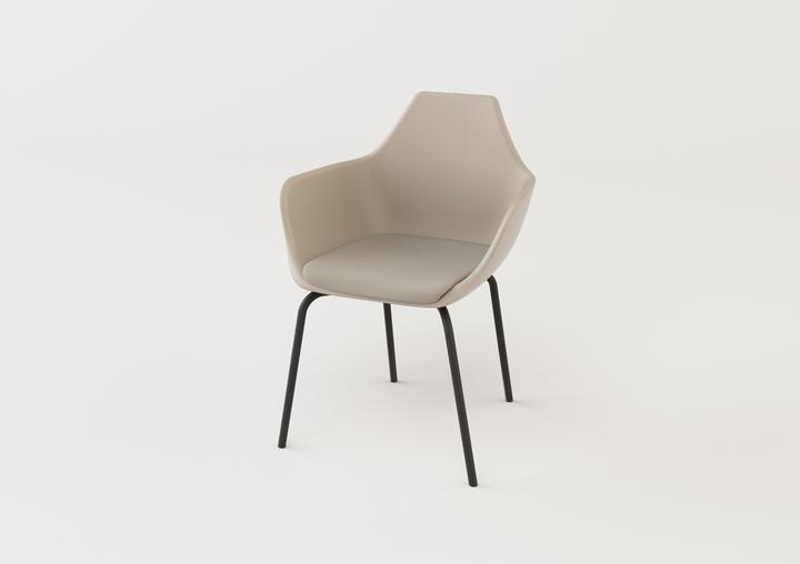 y asiento de la silla rotatoria