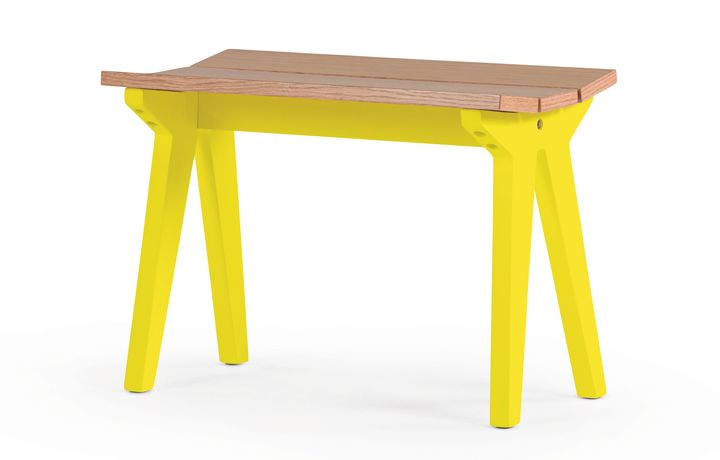 Mini Stroller Banco de Carvalho Amarelo