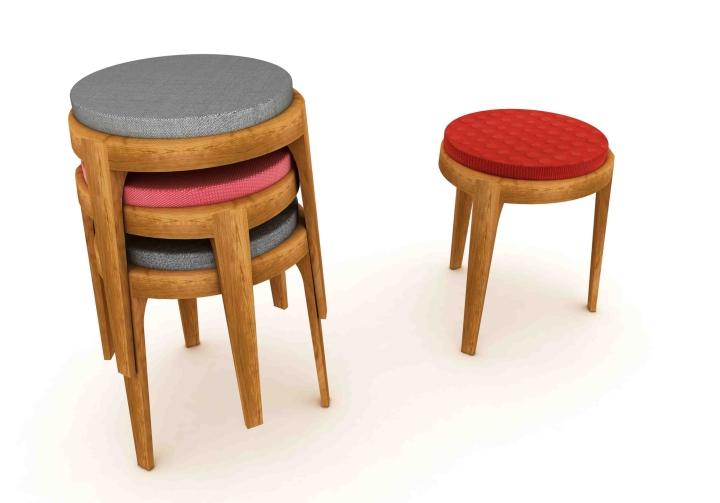 Banqueta Negrito Tecidos kvadrat baixo revista design social