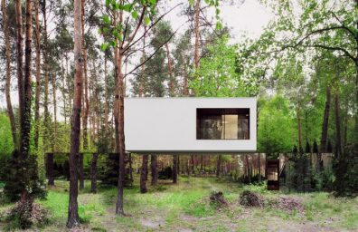 Reform architekt marcin Tomaszewski refelctive mirror Izabelin house 2 01